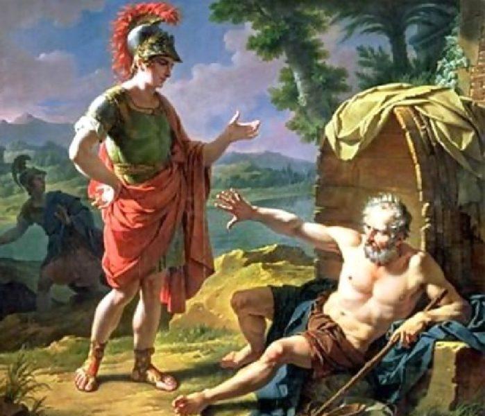 Encontro de Alexandre da Macedônia e Diógenes de Sínope.