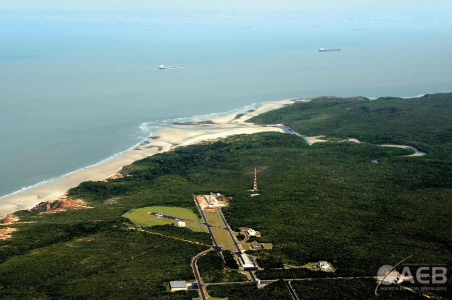 Vista aérea do Centro de Lançamento de Alcântara.
