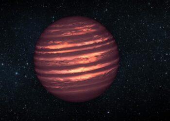 Impressão artística de uma anã marrom tipo T. Crédito: NASA / JPL-Caltech Fonte: EurekAlert