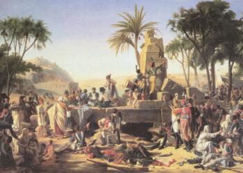 Exército de Napoleão no Egito. Pintura de Jean-Charles Tardieu.