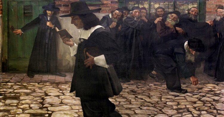 Samuel Hirszenberg, Spinoza (1907). Cortesia A. A. Deineka Picture Gallery, Kursk, Rússia.