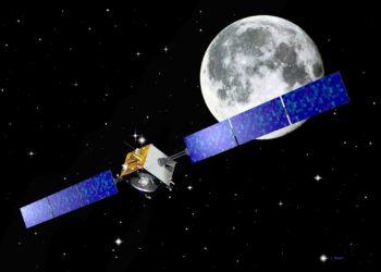 Representação artística da missão SMART-1 da ESA para a Lua. Crédito de Imagem: J. Huart / ESA