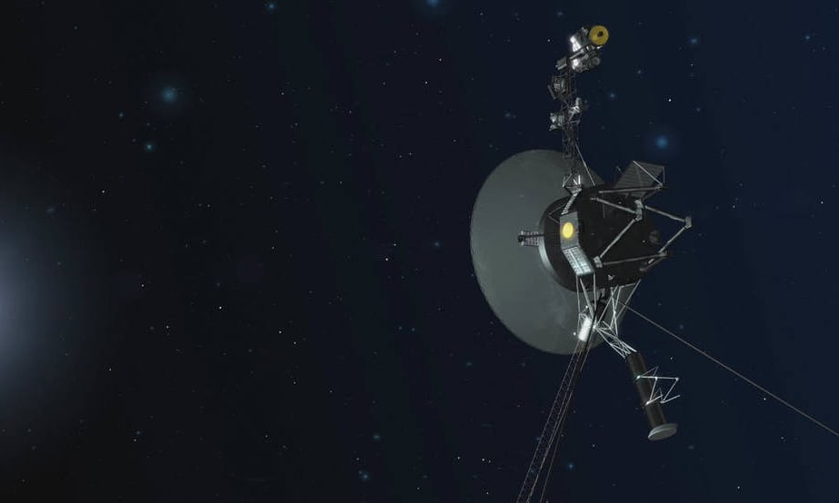 Concepção artística da Nasa para a Voyager 1, atualmente atravessando o espaço interestelar. Fotografia: AP
