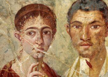 Afresco em Pompeia de Terentius Neo e sua esposa.