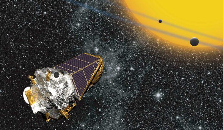 Concepção artística do telescópio espacial Kepler. Imagem: NASA