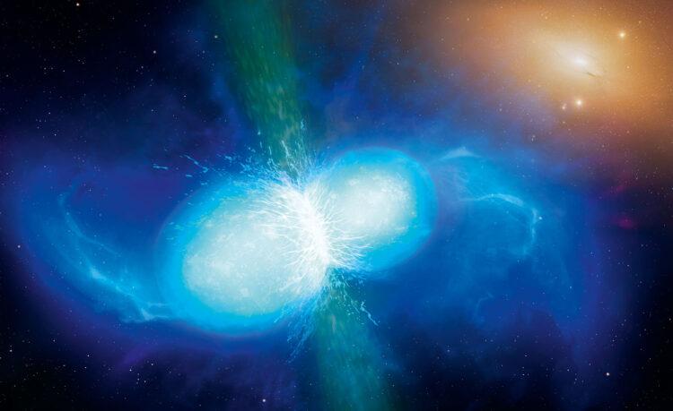Ondas gravitacionais ajudam a revelar o limite de massa de estrelas de nêutrons. Imagem: University of Warwick/Mark Garlick/Wikimedia Commons (CC BY 4.0)