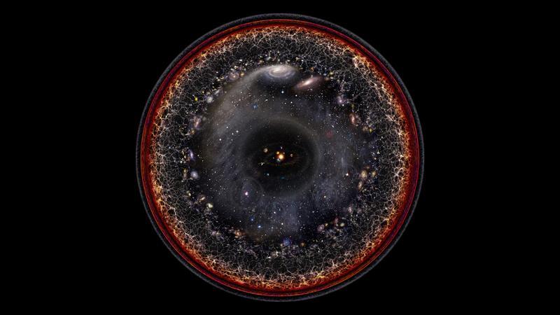 É assim a incrível visão de todo o universo conhecido quando reduzido a uma única imagem