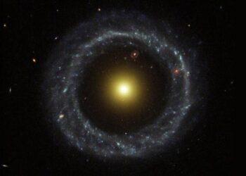 PGC 1000714 (centro). Crédito da imagem: Centro de Dados astronomiques de Estrasburgo / SIMBAD / SDSS