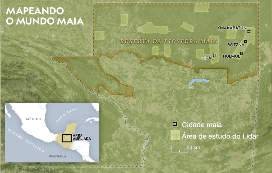 Pesquisadores com LiDAR aéreo mapearam 10 partes da Reserva da Biosfera Maia na Guatemala. As descobertas revelam uma rede de cidades maias.