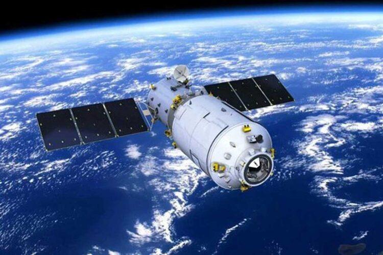 Primeira estação espacial chinesa: Tiangong-1. Crédito: CMSA.