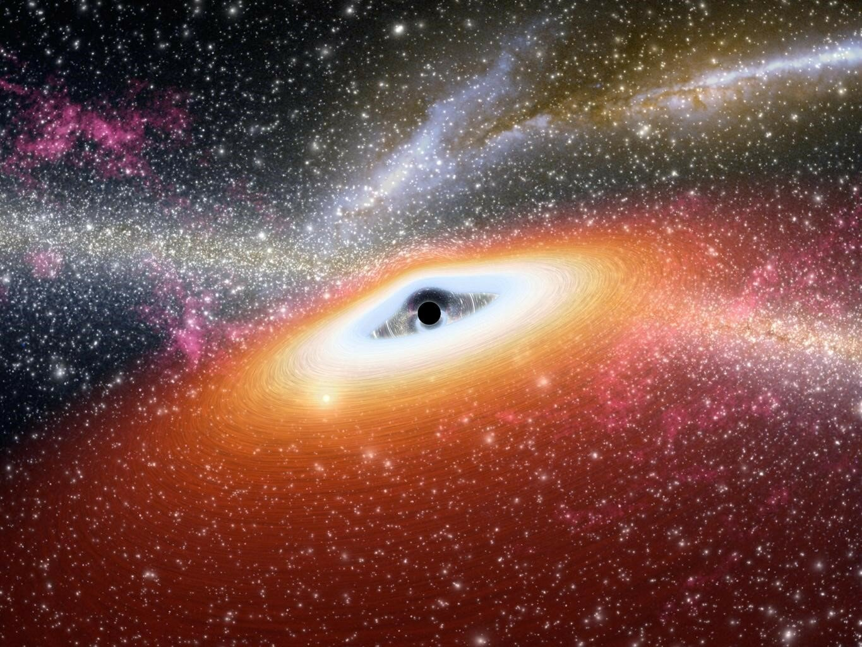 Buraco negro devorando gás