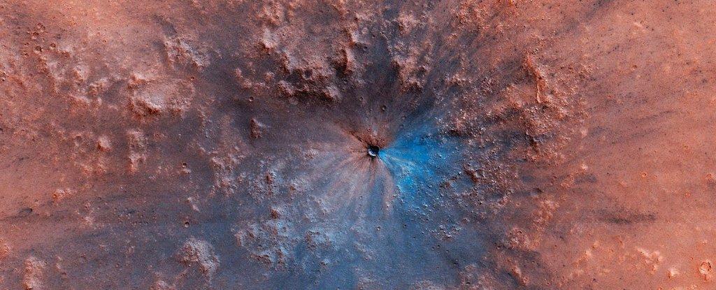 Assustadora cratera nunca vista antes é descoberta em Marte