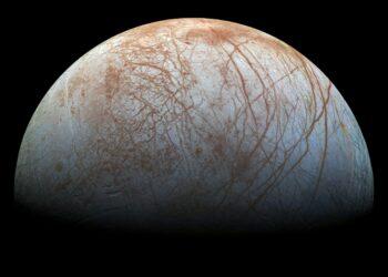 A variedade da superfície de Europa. Crédito: NASA/JPL-Caltech/SETI Institute