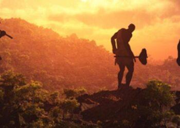 Representação de Neandertais. Imagem: Regis Allouet /Adobe Stock