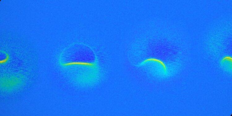 Campo magnético de átomo. Imagem: Wilke et al., Nature Physics, 2019