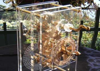 Modelo moderno do Mecanismo Antikythera (CC BY-SA 3.0)