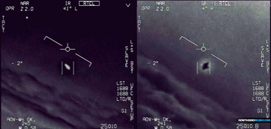 Quadros do vídeo que mostra o encontro do USS Nimitz com OVNIS. (Imagem: © To The Stars Academy of Arts & Science)