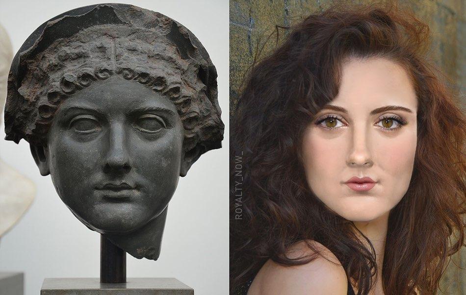 Designer recria figuras históricas como Calígula, Nefertiti, Ana Bolena e muitas outras personalidades históricas. (Imagem: Reprodução Instagram / @royalty_now_)