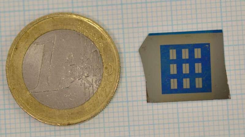 Um amplificador de grafeno. (Crédito: Loughborough University)