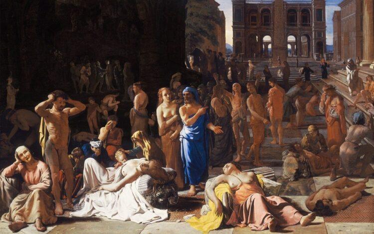 (Imagem: A Peste de Atenas, Michiel Sweerts, c. 1652–1654)