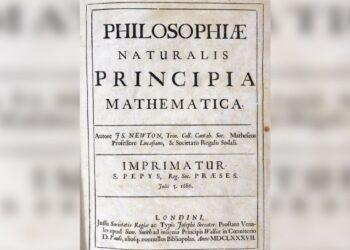 Foi descoberto de uma biblioteca francesa uma cópia do primeiro livro de Isaac Newton. Em leilões pode valer milhões de dólares. (Crédito da imagem: SSPL / Getty Images)