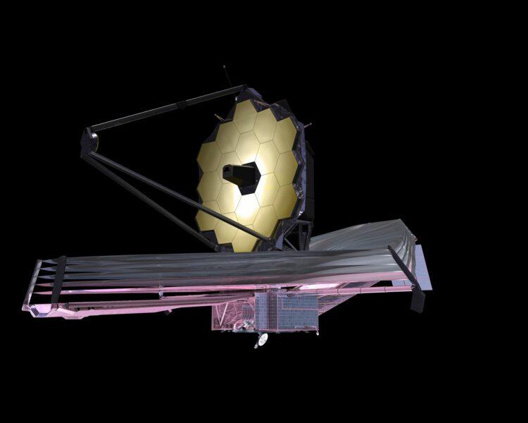 O James Webb Space Telescope (JWST). (Crédito: Nasa)