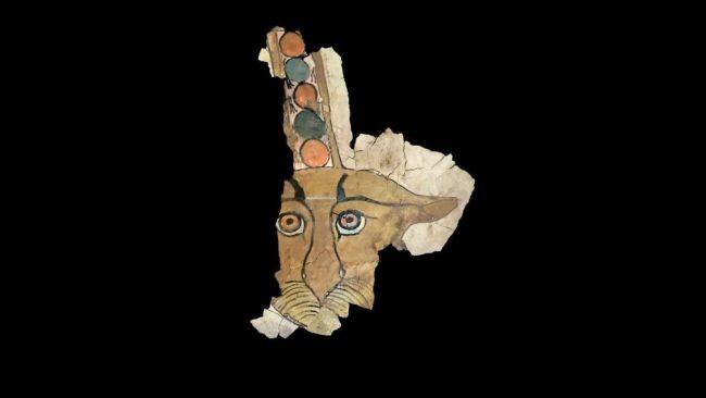 Arqueólogos reconstruíram digitalmente a imagem do leopardo a partir de fragmentos. (Imagem: Universidade de Milão)