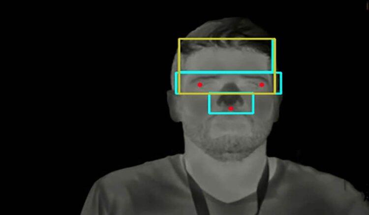 Tecnologia de inteligência artificial desenvolvida por empresa paulista apoiada pelo PIPE-FAPESP é capaz de detectar febre a distância e está sendo utilizada no Hospital Israelita Albert Einstein com o objetivo de diminuir risco de contágio do novo coronavírus.(imagem: Hoobox)