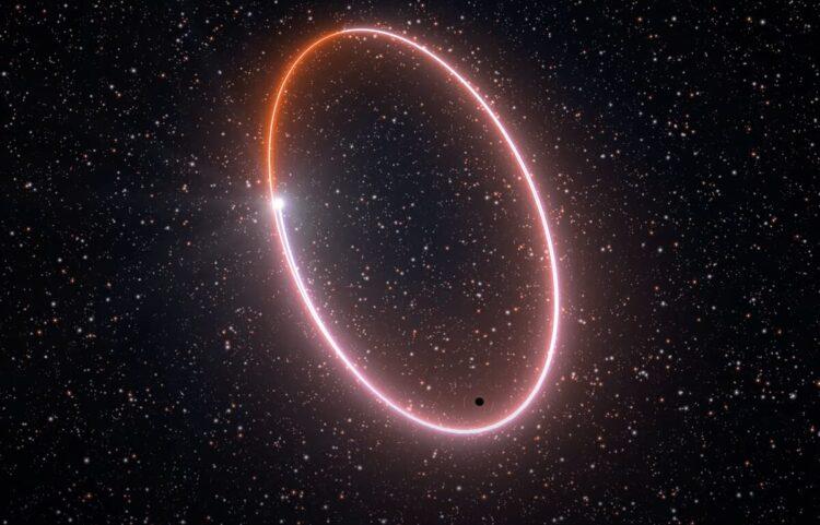 Estrela orbitando um buraco negro ajuda a provar a teoria da relatividade