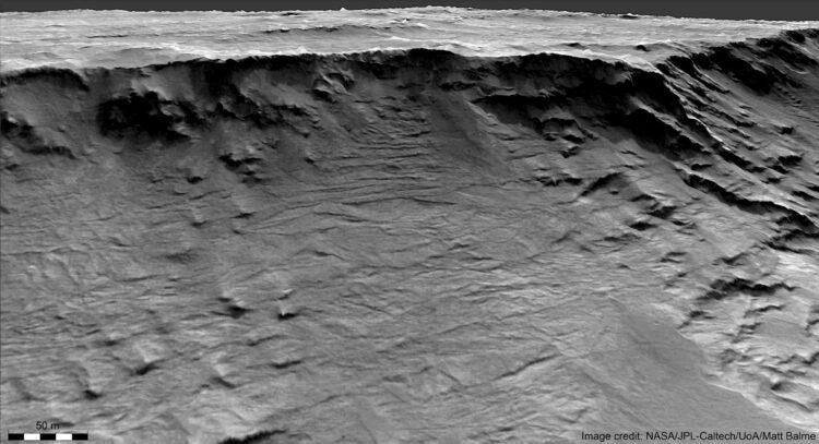 Antigos sistemas fluviais de Marte