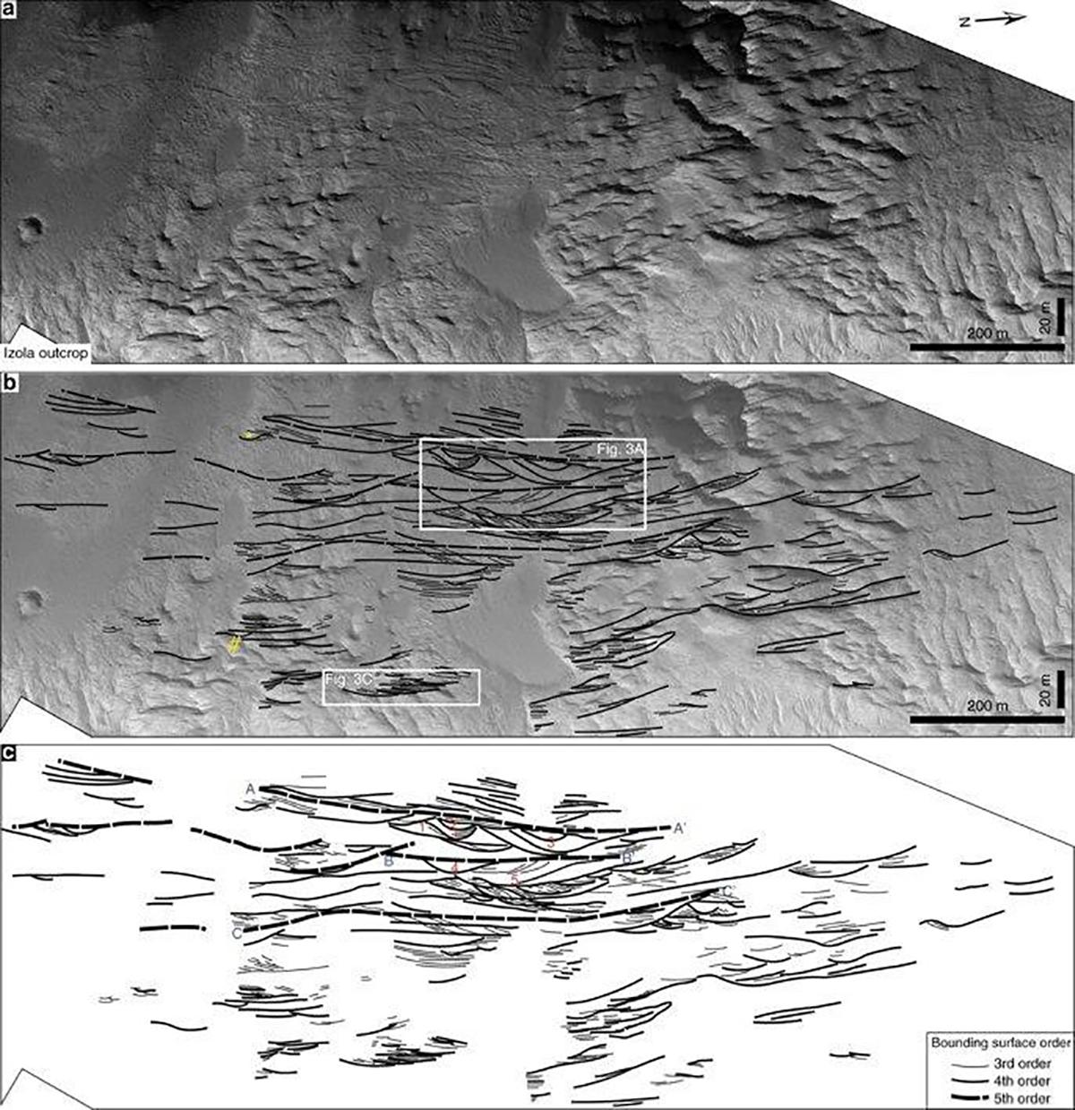 Antigos sistemas fluviais em Marte