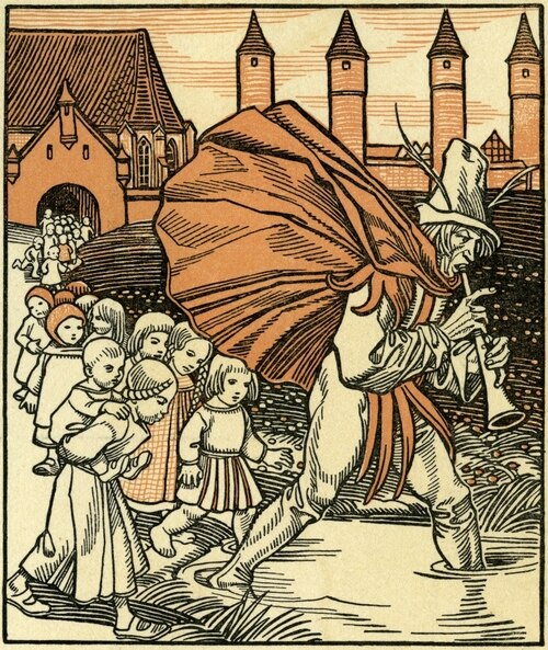 Flautista de Harmelin Ilustração
