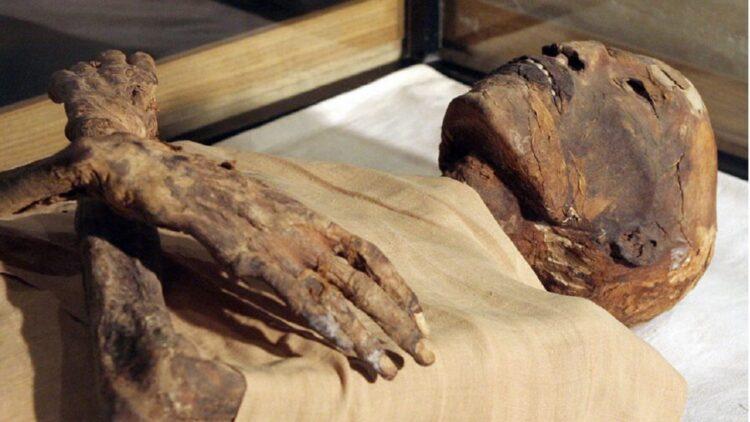 Múmia do Faraó Ramsés IV/ Imagem: AFP