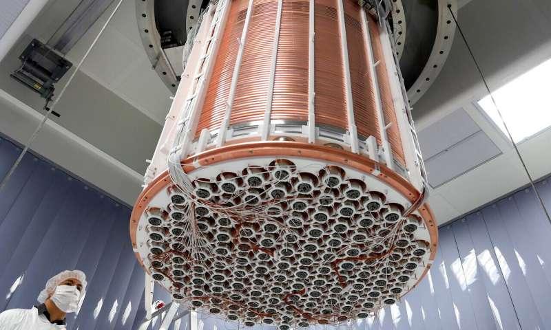 Experimento do XENON1T para observação de matéria escura.