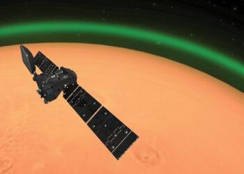 Brilho verde detectado na atmosfera de Marte