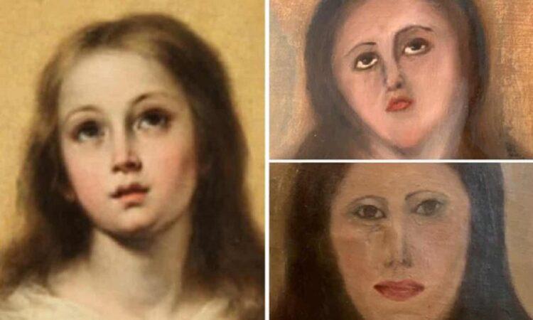 Esta restauração da Virgem Maria acabou dando muito errado