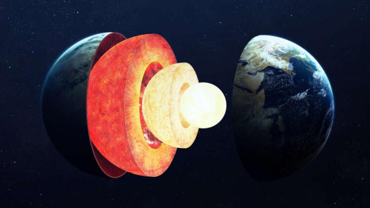 Várias estruturas misteriosas no núcleo da Terra