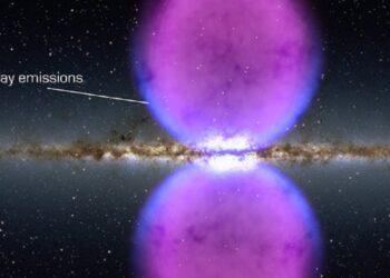 bolhas no centro da Via Láctea