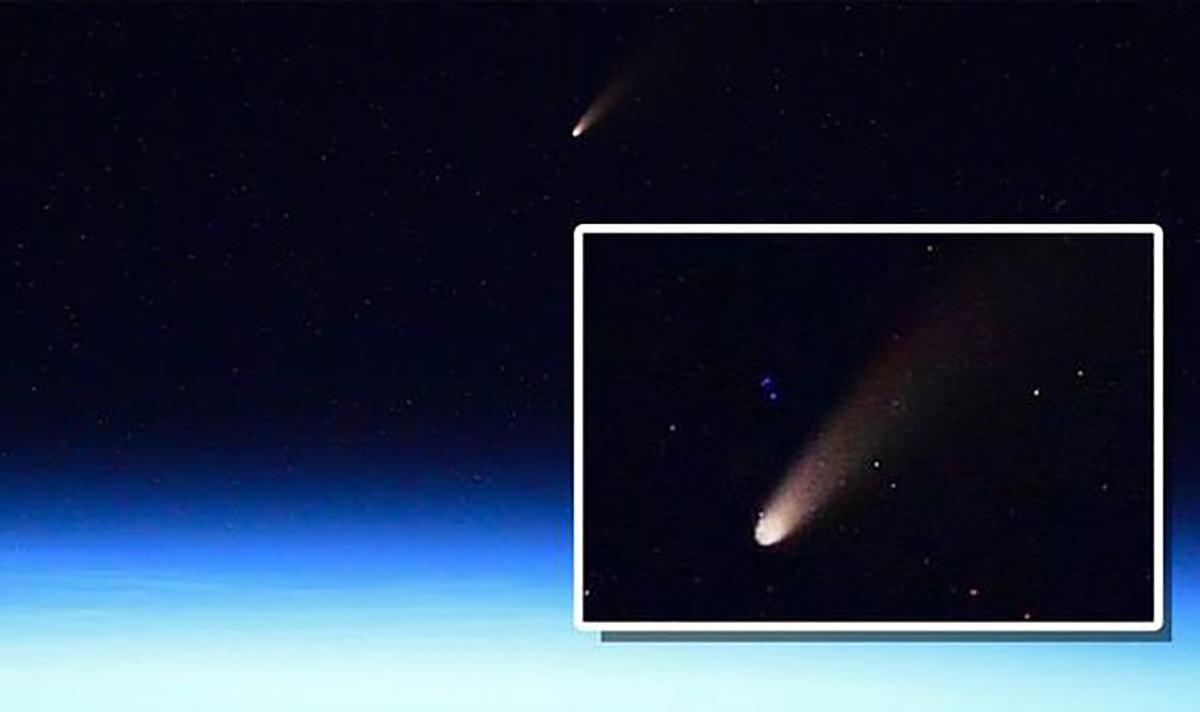 A cauda brilhante do cometa NEOWISE