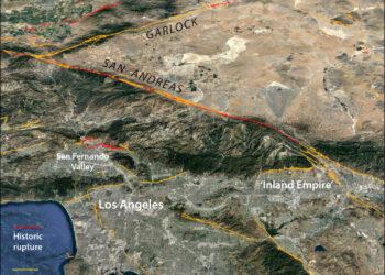 Falhas geológicas na Califórnia. (Créditos da imagem: Google Earth)