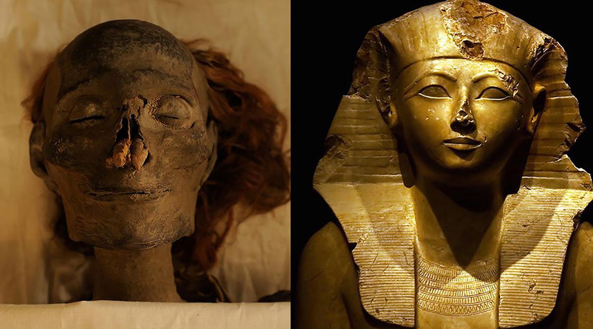 O sorriso de Hashepsut, a primaira mulher faraó do Egito
