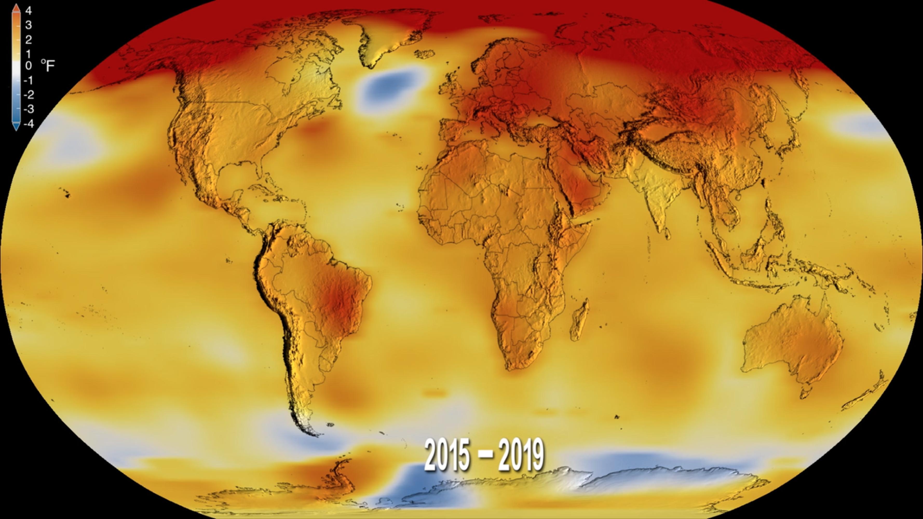 O planeta inteiro está aquecendo