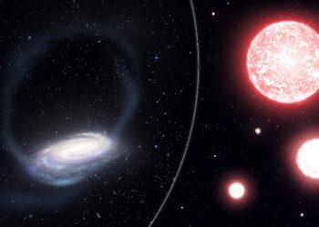 Concepção artística das estrelas arrancadas do aglomerado globular de Phoenix. (Créditos da imagem: James Josephides)