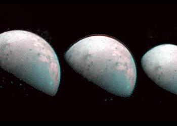Primeiras imagens do Polo Norte de Ganímedes
