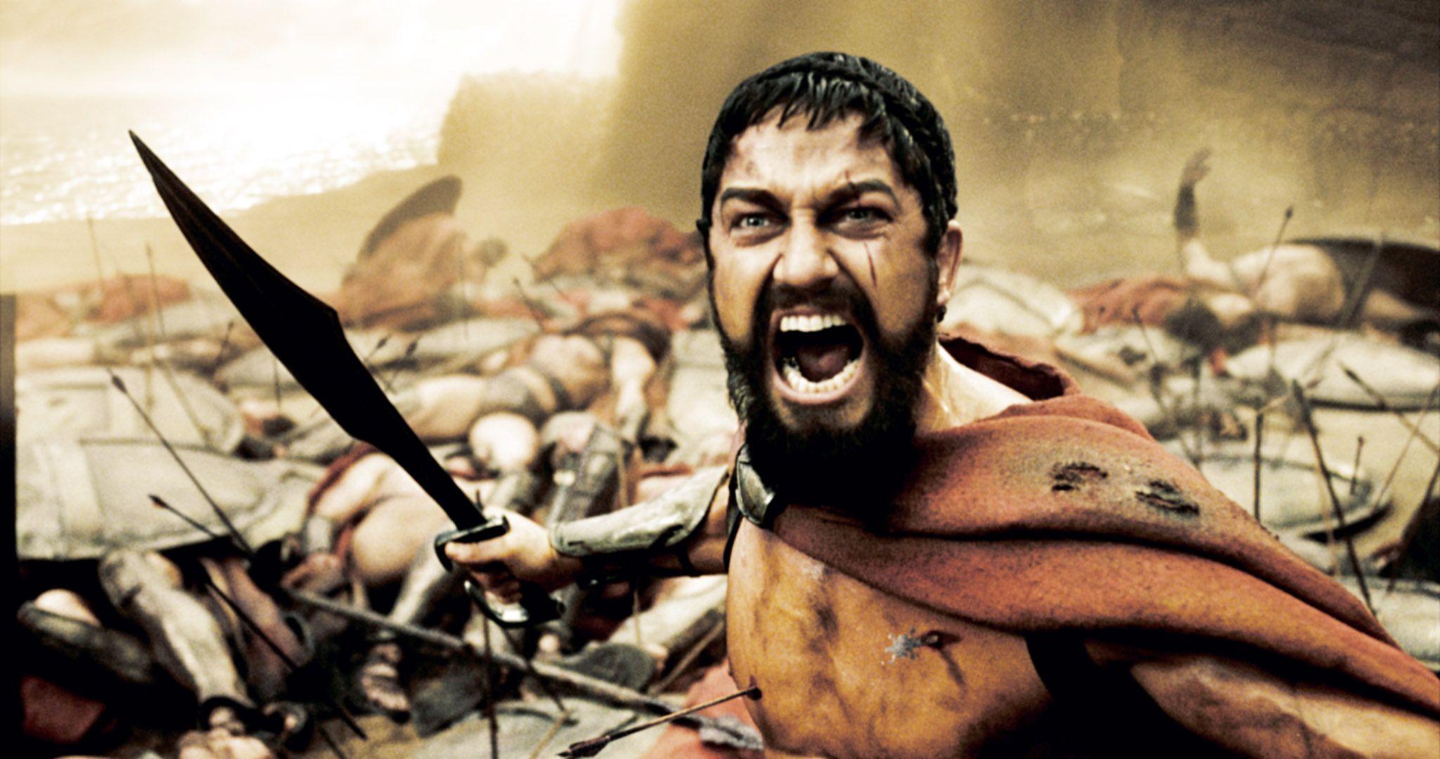 Rei Leônidas de Esparta cena do filme meme