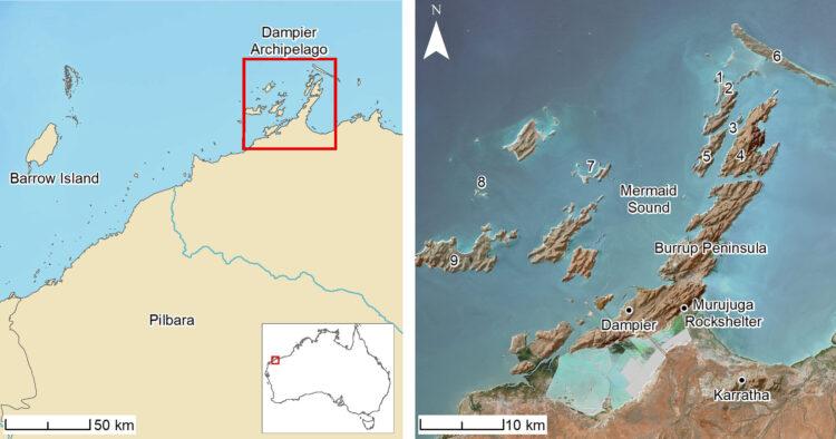 Localização do sítio submerso (Créditos da imagem: Benjamin et. al.)