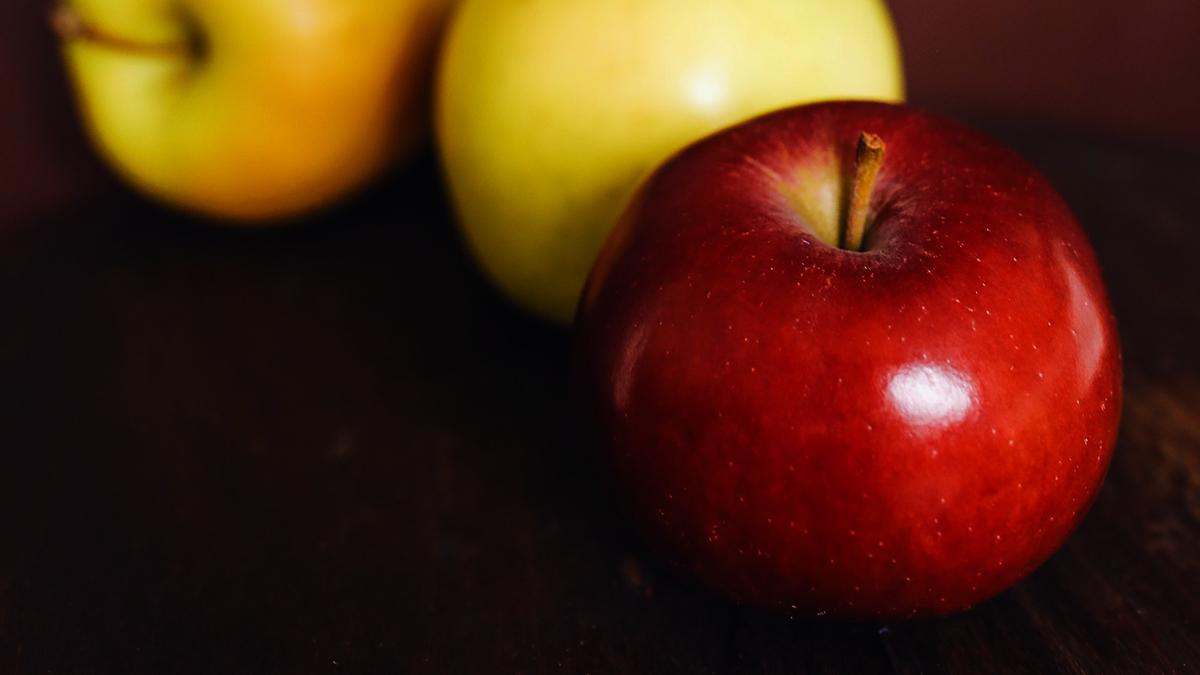 Uma maçã por dia melhora a sua saúde