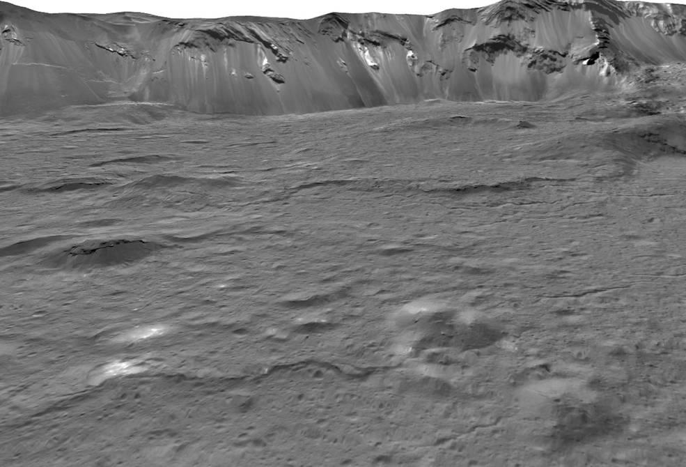 pontos brilhantes misteriosos no planeta anão Ceres apontam para um oceano subterrâneo secreto