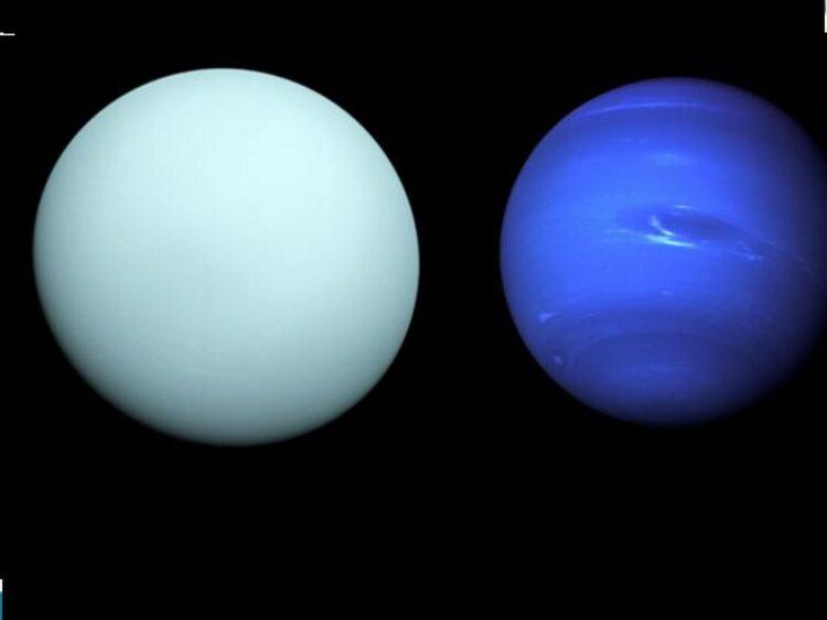 Urano e Netuno. (Créditos da imagem: Wikimedia Commons).