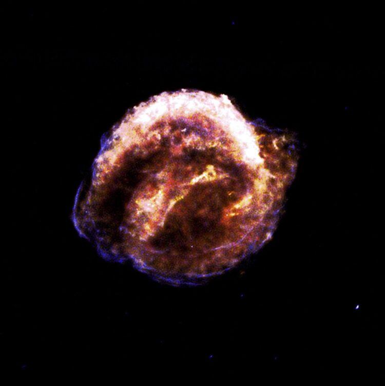 Supernova de Kepler. (Créditos da imagem: NASA).